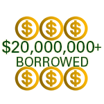 families borrow more than $20,000,000 each year