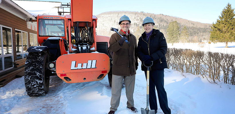Provost and Dean at Bluestone Restaurant ground breaking