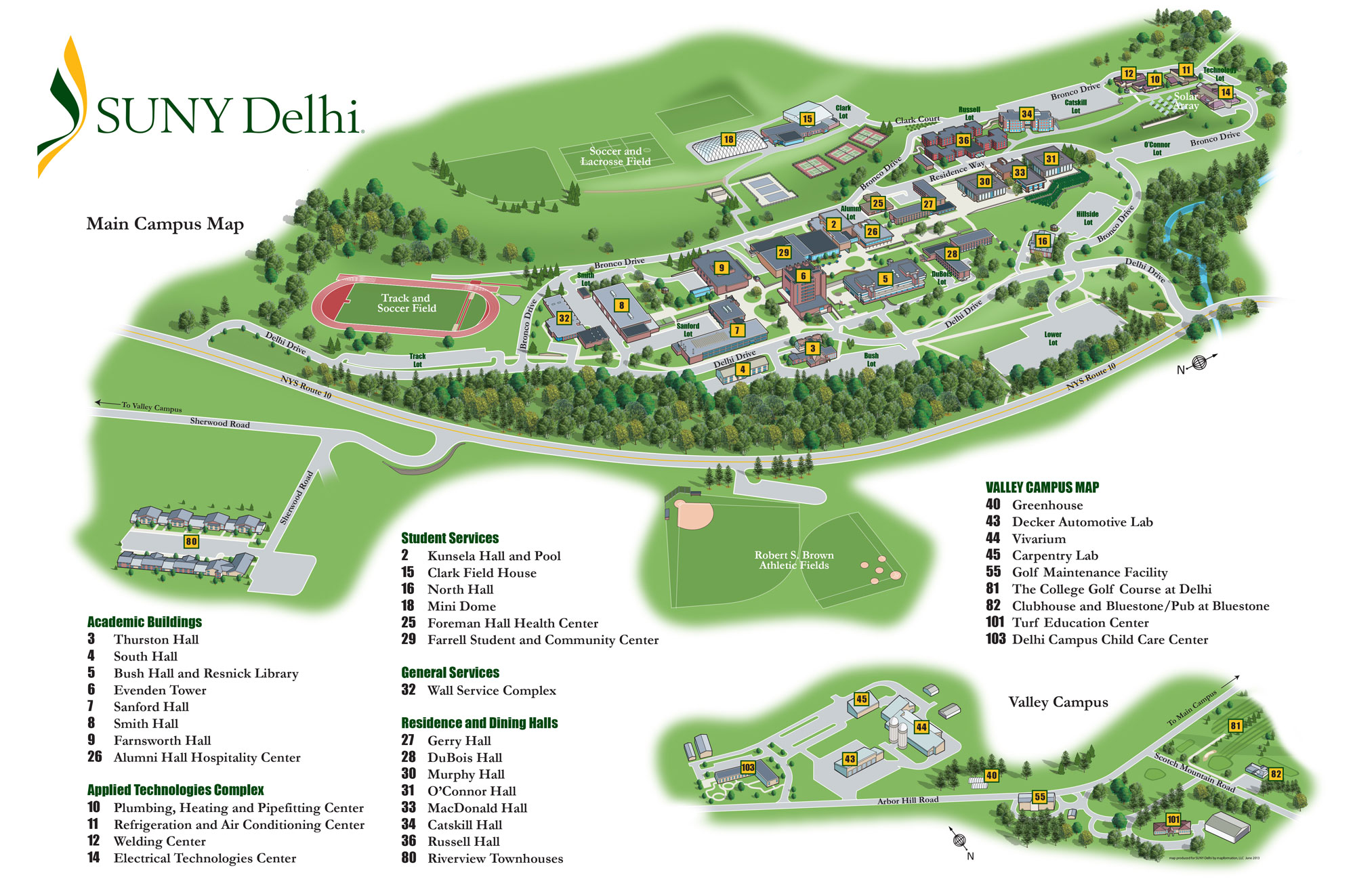 Manhattanville Campus Map.Directions To Suny Delhi