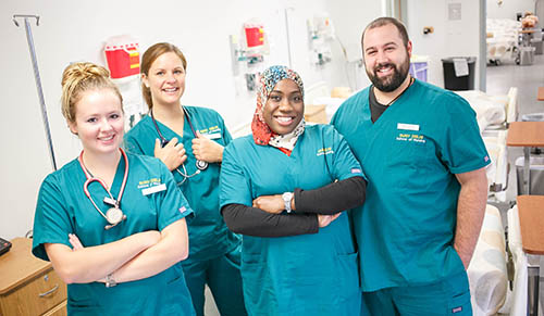 SUNY Delhi Nursing Students
