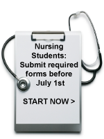 Submit required forms for all nuring students