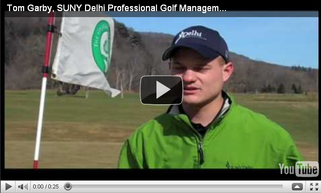 Playing Golf at SUNY Delhi.  Watch Now