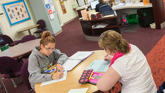 Students studying in Academic Achievement Center