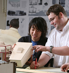 Architecture Students Work Together on Project