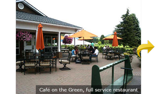 Cafe on the Green, full service restaurant