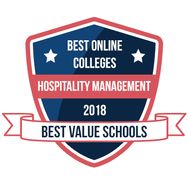 Badge for Best Hospitality Management Degree Programs of 2018