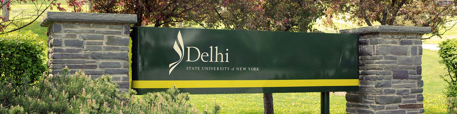 SUNY Delhi entrance sign