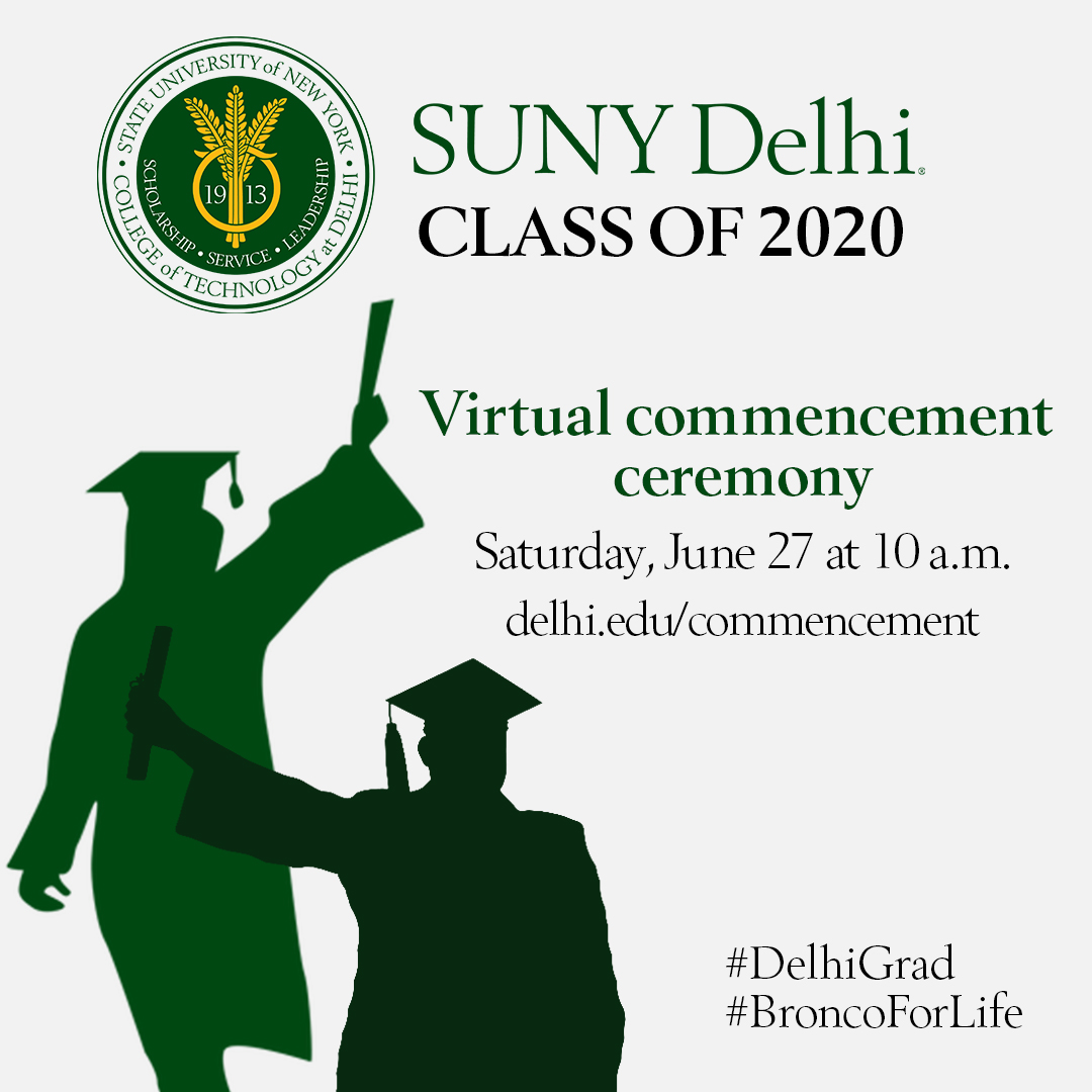 SUNY Delhi commencement Ad