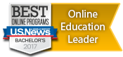 Online Education Leader 2017 by U.S. News & World Report