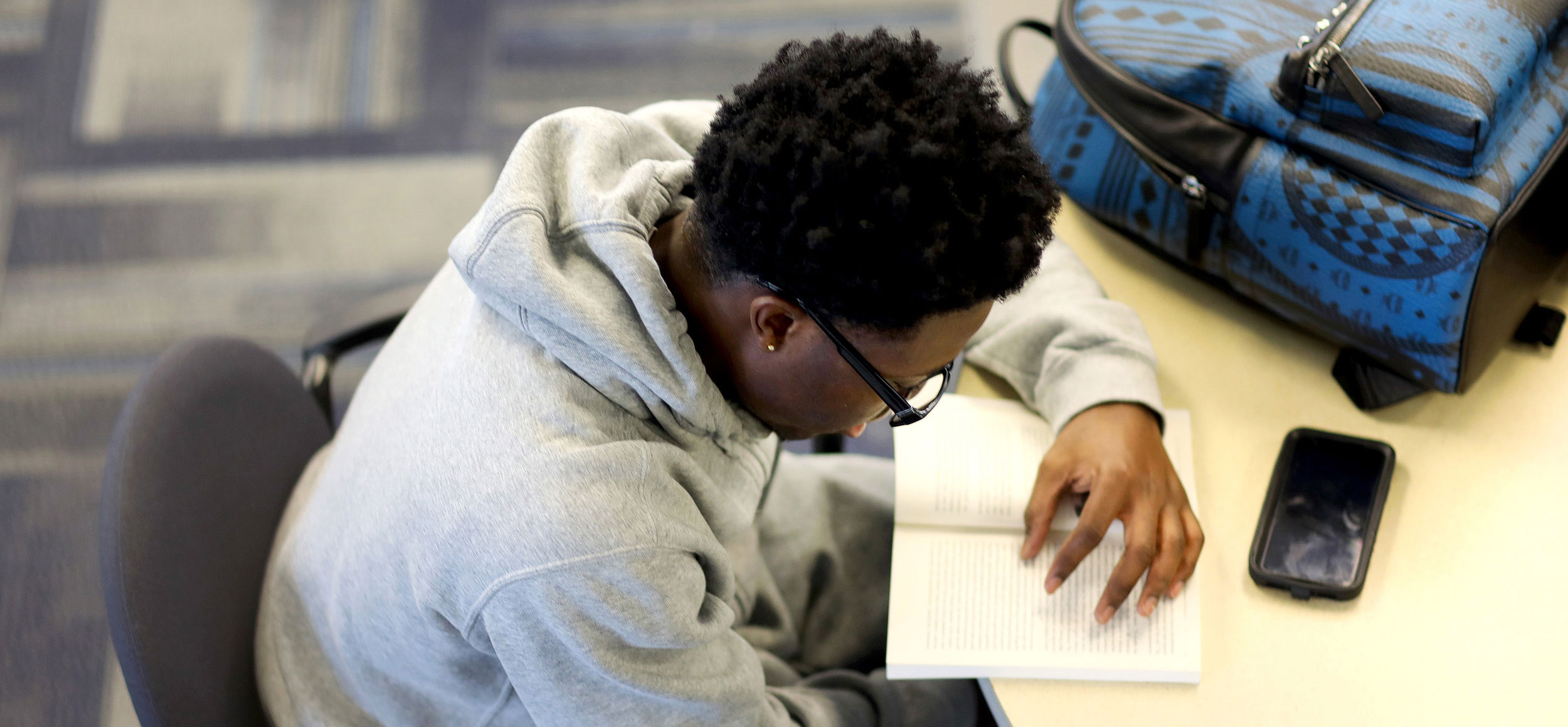 Student Studying at desk