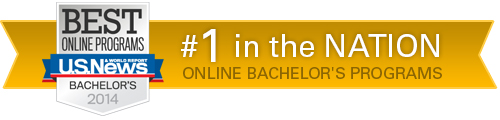 Best Online Programs U.S. News Bachelor's 2014 - #1 in the Nation